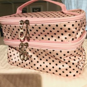 NWOT COSMETIC BAG, two compartments
